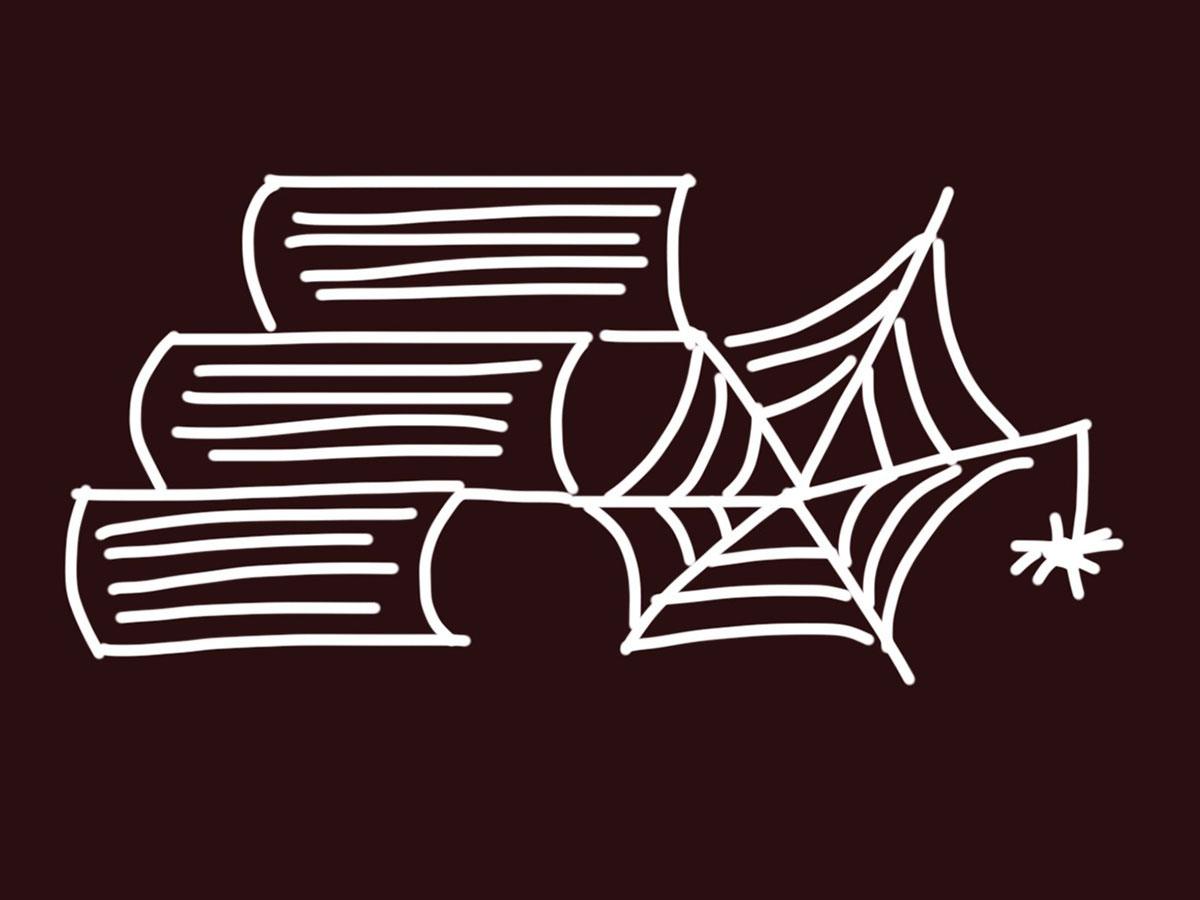 böcker med spindelnät